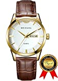 BRIGADA Swiss Watches Classic Gold Waterproof Sport Watch for Men Boys