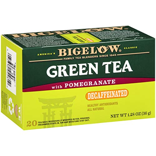 Bigelow Tea Green Tea with Pomegranate Decaf  Decaffeinated Individual Green Tea Bags, for Hot Tea or Iced Tea, Drink Plain or Sweetened with Honey or Sugar,20 Count(Pack of 6), 120 Tea Bags Total. ()