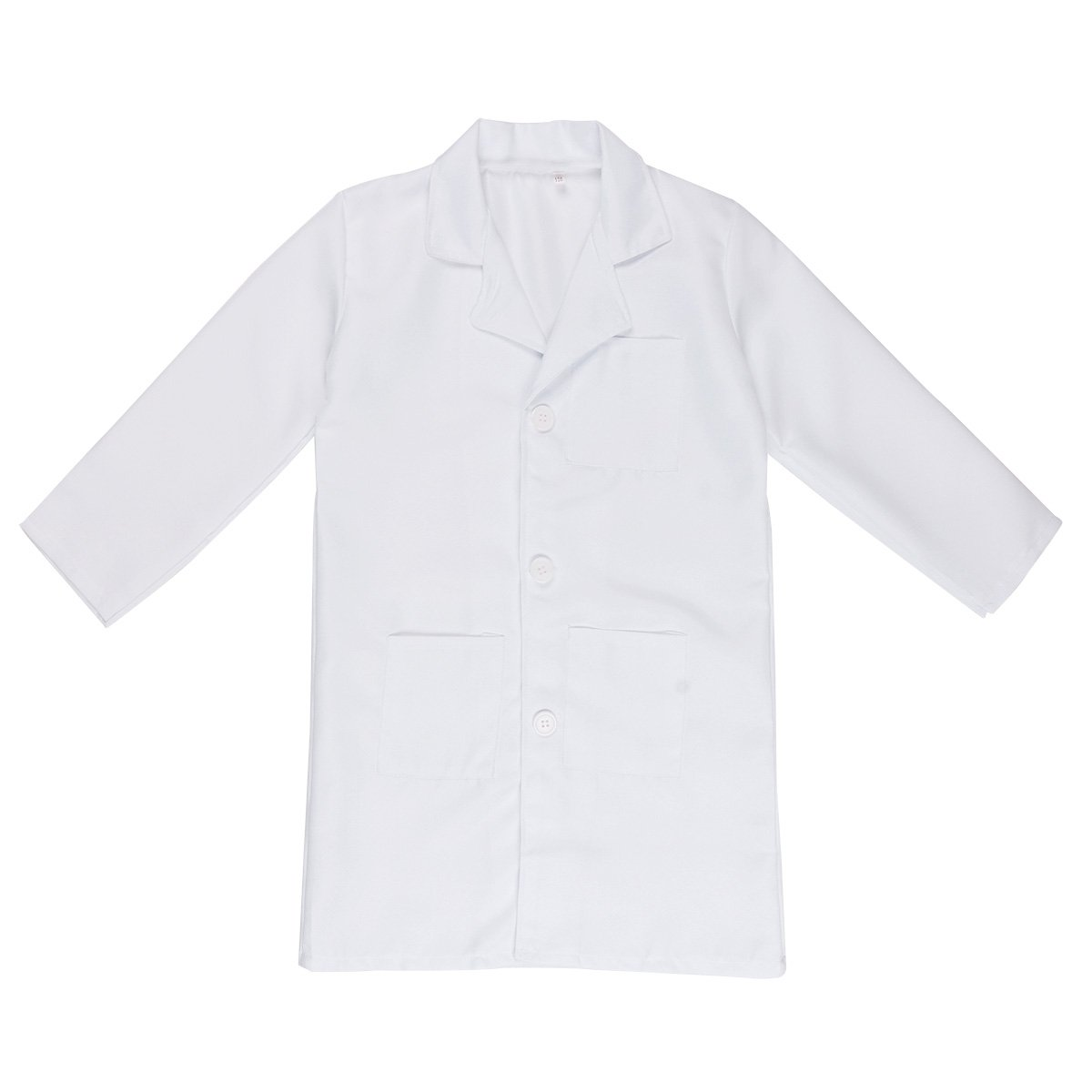 MSemis Childrens Lab Coat Long Sleeves Doctor Costumes Fancy Dress Up Role Play Cosplay White 7-8