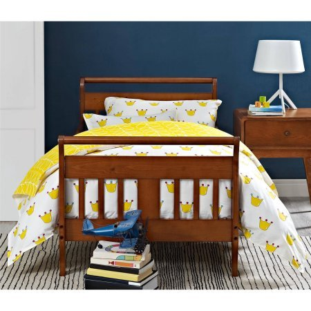 Toddler Bed (Your Choice in Finish), Home Furniture, Kid's Daybed Made of Solid Hardwood Construction, Sleigh-Style Design, 2 Side Rails, Bedroom, Baby Toddler, BONUS e-book (Walnut) (Daybed Hardwood)