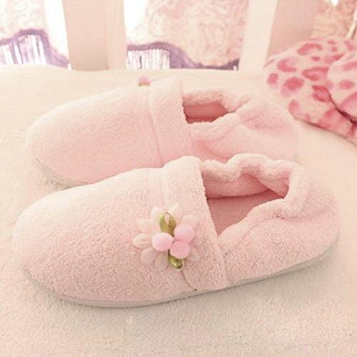 Elevin (tm) Mujeres Embarazadas Zapatillas De Casa Peluquería Invierno Otoño Calzado Zapatos Zapatos De Yoga Rosa 2