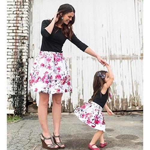 4acf0be36f5 G-real Little Girls Kids Cute 2pcs Black Vest T-Shirt Tops+Floral ...