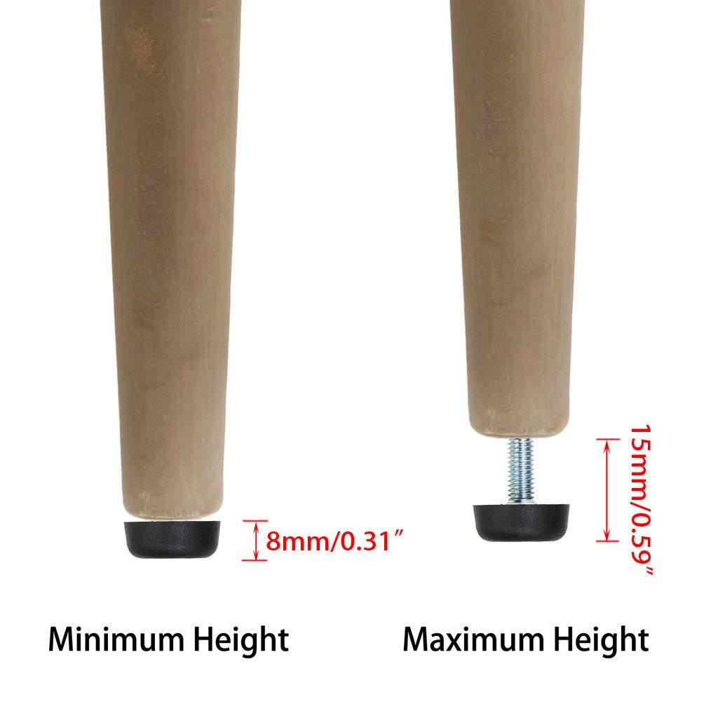 Furniture Legs DIY & Tools 8 PCS Leveling Feet M8 Thread