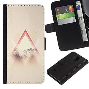 For Samsung Galaxy S5 Mini / Galaxy S5 Mini Duos / SM-G800 !!!NOT S5 REGULAR! ,S-type® God Religious Triangle Clouds Sun Ray - Dibujo PU billetera de cuero Funda Case Caso de la piel de la bolsa protectora