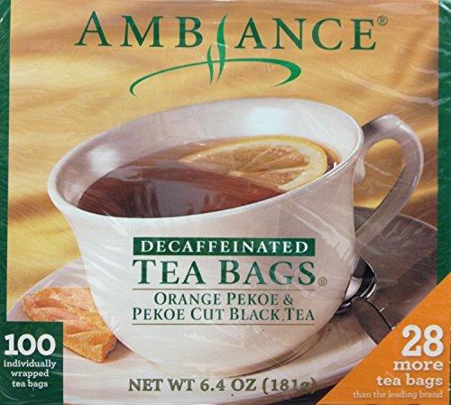 (100 Ambiance Orange Pekoe & Pekoe Cut Black Tea Bags Decaffeinated)