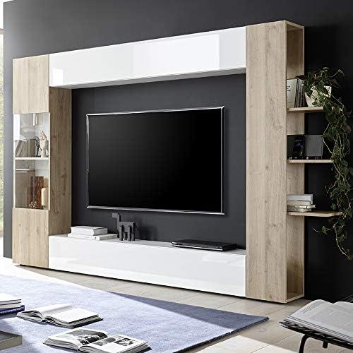 Kasalinea Soprano 3 - Mueble para televisor de Pared, Color Blanco ...