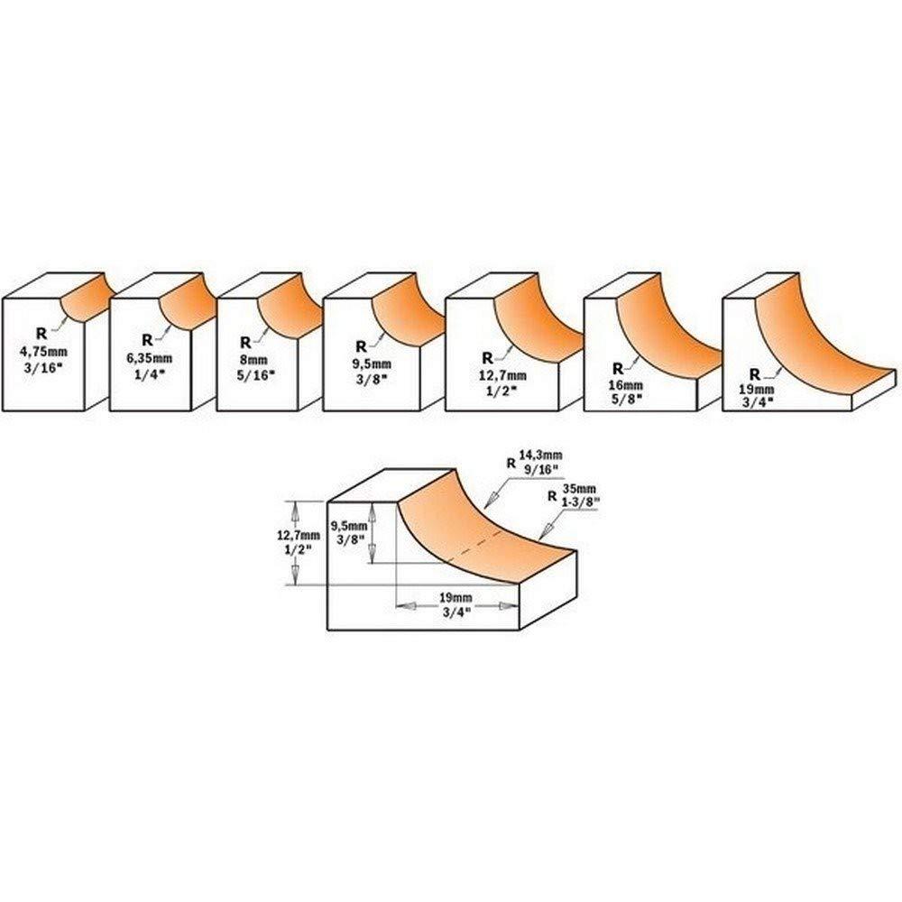 CMT Orange Tools 937,722,11 r.convexo avec fraise rodam hm 25,4 r d s 12 6,4