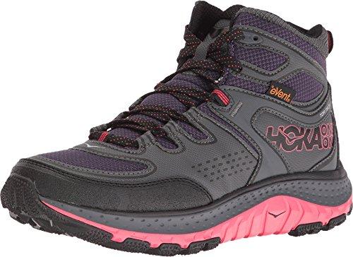 HOKA ONE ONE Women's Tor Tech Mid Waterproof Hiking Shoe,Nightshade/Teaberry,US