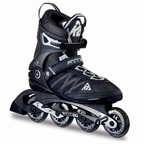 ささいな魅力的であることへのアピールマーケティング[ケーツー] メンズ インラインスケート F.I.T 80 エフアイティー 80 ブラック/シルバー I160200301