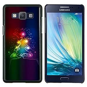 Stuss Case / Funda Carcasa protectora - Árbol de Navidad de invierno de neón de colores oscuros - Samsung Galaxy A5 ( A5000 ) 2014 Version