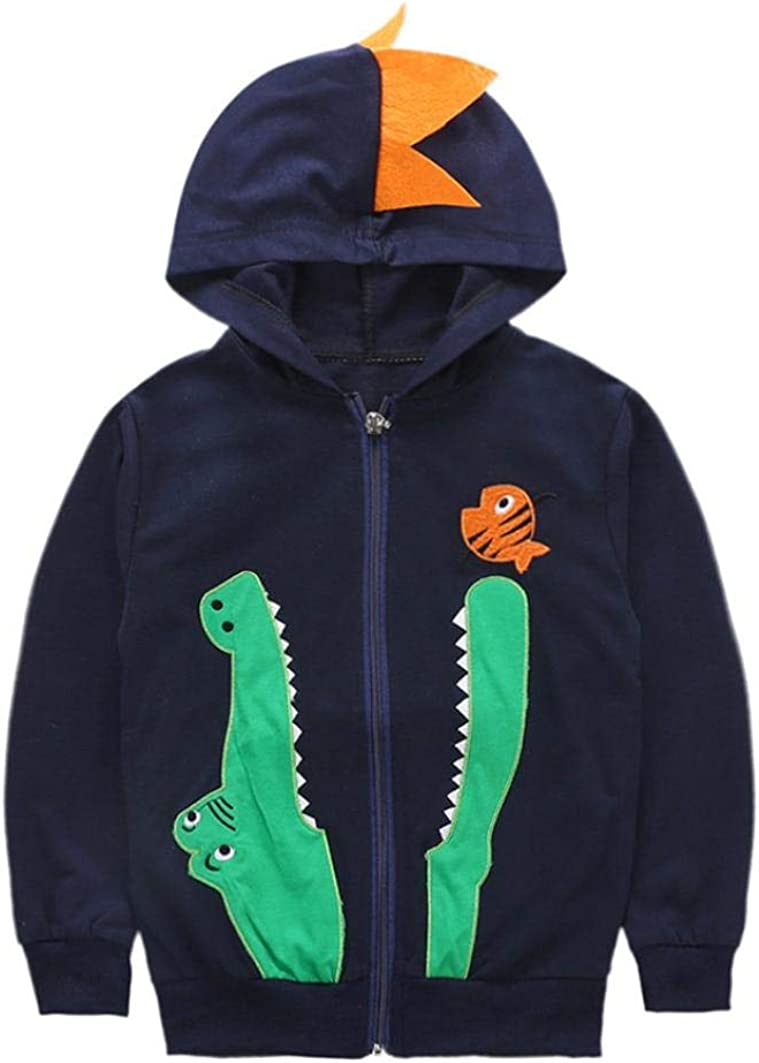 Memela Baby Clothes,Baby Boys Long Sleeve Dinosaur Hoodies Kids Sweatshirt Toddler Zip-up Jacket