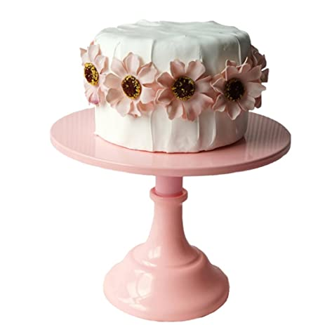 Cake Plate Botitu 10 inch Round Cake Holder with Steel Pedestal Cupcake Display for Birthday  sc 1 st  Amazon.com & Amazon.com | Cake Plate Botitu 10 inch Round Cake Holder with Steel ...