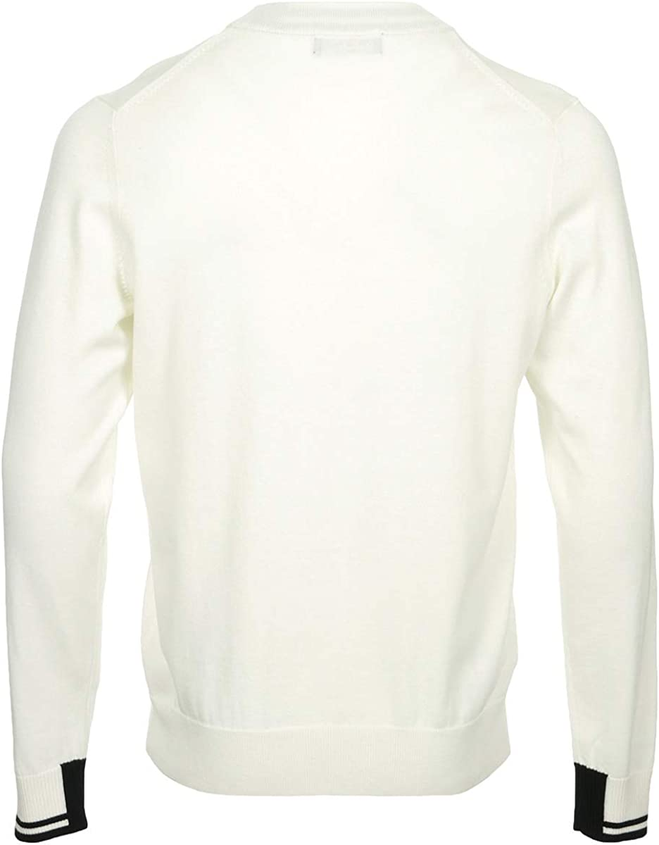 Fred Perry Abstract Tipped Crew Neck Jumper Pull