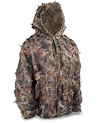 North Mountain Gear Shadow Brown Camouflage Complete Camo Leafy 3D Hunting System Outdoors Suit Jacket Pants Hood Lightweight