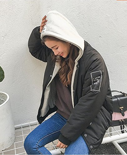 Winter Two Female Down Pieces Thin Black Loose Holiday Xuanku Coat Hooded Jacket Of Short Jacket pdS8w14qn