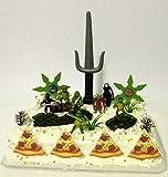 Teenage Mutant Ninja Turtles 17 Piece Birthday Cake Topper Set Featuring Sensei Splinter, Donatello, Leonardo, Raphael, Michelangelo and Themed Decorative Accessories
