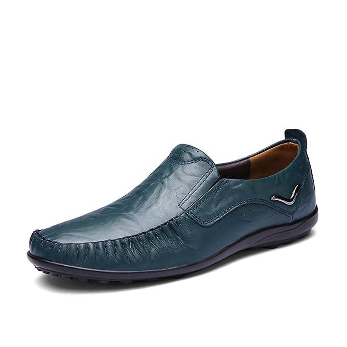 GPF-fei Zapatos de los hombres mocasines de cuero zapato de conducción Lazy Shoes zapatos
