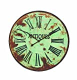 Cheap Creative Co-op DA2861 Antiques Distressed Green Round Metal Wall Clock