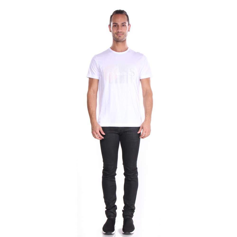 Hugo Boss Mens T-Shirt tee 4 Rubberised lenticular Logo 50404398 100 White
