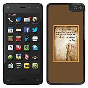 LECELL--Funda protectora / Cubierta / Piel For Amazon Fire Phone -- abuso inspirador pergamino atado triste --