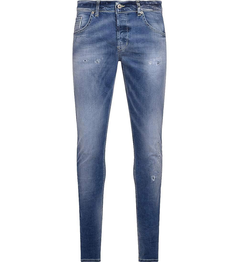 quality design 545a3 2fdfd Dondup Men's Jeans Ritchie Blu Chiaro Lavato Con Rotture at ...