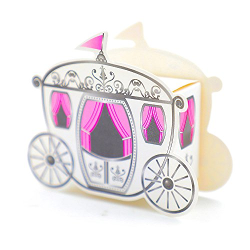 Fairy Candy Box - DiER 50 Mini Carriage Treat Boxes Candy Box Cinderella Fairytale Princess Carriage Wedding Favour Party Gift