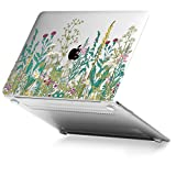 GMYLE Garden Flower Pattern Soft-Touch Crystal Plastic Hard Case Print for Apple MacBook 12 inch with Retina Display (Model: A1534) [2015 Release]
