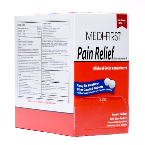 Medi-First 81113 Pain Relief Tablets, 250 packets of ()