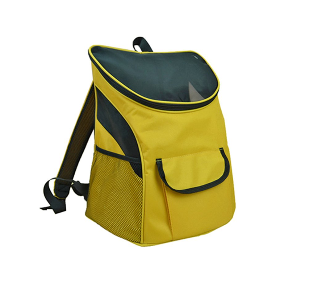 Pet Carrier Soft Sided Travel Bag for Small Dogs & Cats- Airline Approved, Yellow  8