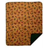 Denali Home Collection by Monterey Mills 60-Inch by 70-Inch Denali Double-Sided MicroPlush Throw, Falling Leaves/Pine
