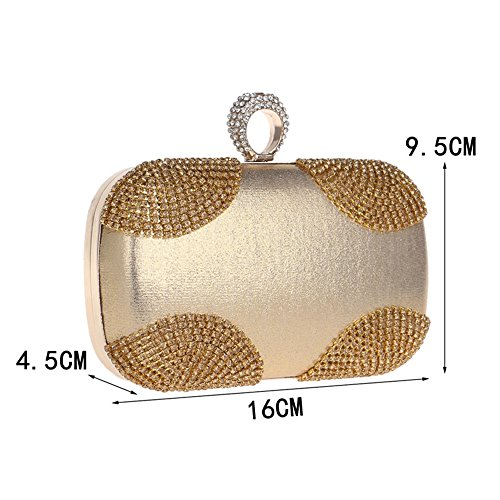Ladies Hard Evening GXYCP Beading Parties Clubs Pures Handbags Dinner Diamond Lightgold Clutches Black For Shell Bags Wedding Y44Rq