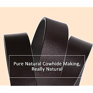 Women's Cowhide Leather Belt Ladies Vintage Casual Belts for Jeans Shorts Pants Summer Dress for Women