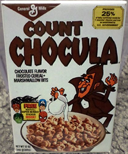 Count Chocula Style 2 Vintage Cereal Box 2