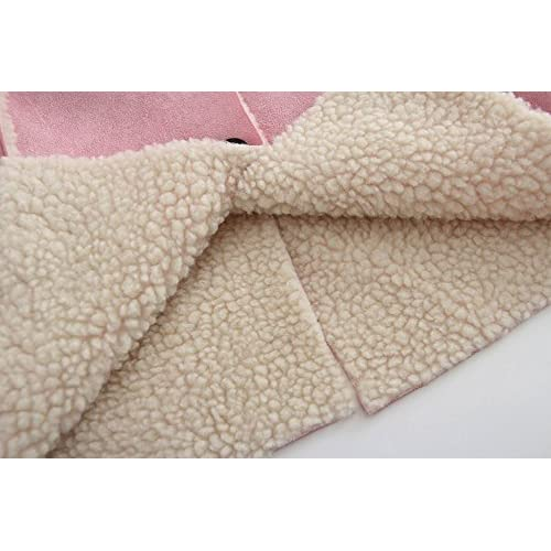 31f08d207 KONFA Girls Classic Button Fleece Padded Wind Coat