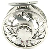 Cheap SPECIAL INTRODUCTORY SALE! Aventik Trout CNC-NVIS 3/4, 5/7, 7/9, 9/11, 12/14 New super large arbor waterproof fly reel (gunsmoke color, 3/4)
