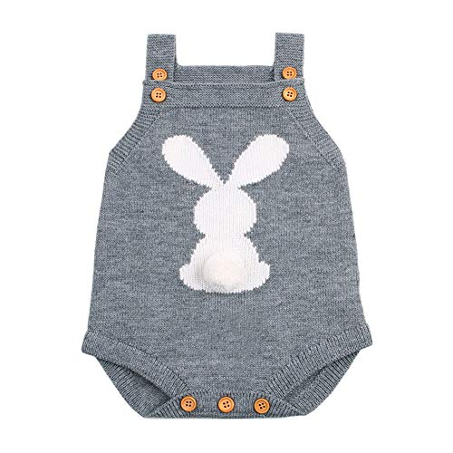 woshilaocai Baby Easter Clothes Newborn Knit Rompers Baby Boy Girl Bunny Knitting Wool Romper Bodysuit Jumpsuit Outfits -