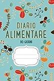 Diario Alimentare 90 Giorni: Agenda Perdita Di Peso E Attività Giornaliere Blu