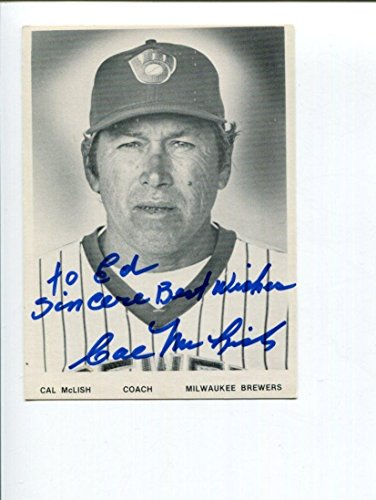 Cal McLish Signed Photograph - 1940s Star - Autographed MLB Photos