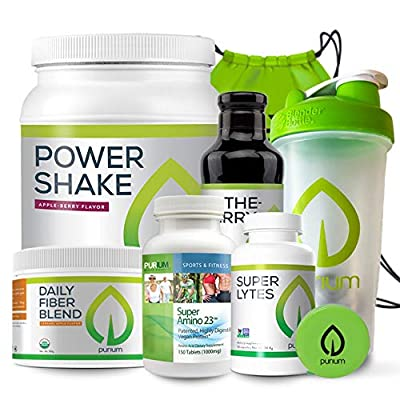 Purium 10 Day Transformation Cleansing - Complete Detox & Cleanse Kit, Supports Digestive Health, Weight Loss, Energy, & Sleep - Includes Blender Bottle, Gym Bag & Tape Measure