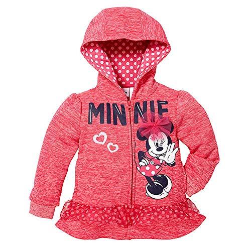 (Disney Little Girls Zip-Up Fleece Hoodie (6X, Minnie Mouse))