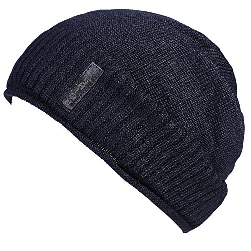 tejidas 3 suave Gorros de paquete beige con Beanie Blue Hat Unisex polar Moda forro Cap forro patrón tejido Z1SgEvvqw