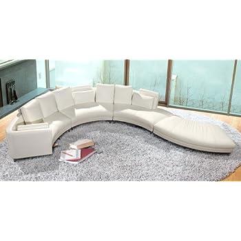 this item vig furniture a94 white leather sectional sofa set - Vig Furniture