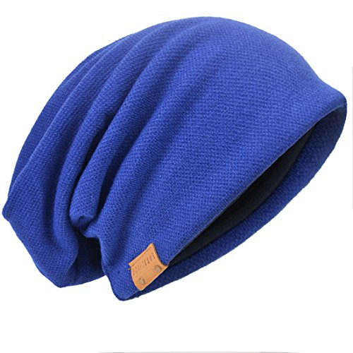 Royal Punto Solid para Gorro Hombre Blue de HISSHE UwBYEqE