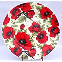 Fine English Bone China Desert or Salad Plate - Red Poppy Chintz - England