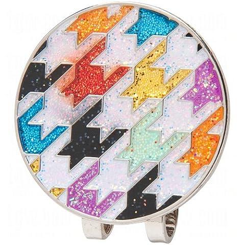 Loudmouth Hat Clip/Ball Markers Razzle Dazzle White (Razzle Dazzle Glitter)