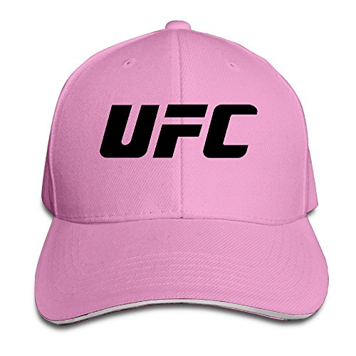 k-fly2-unisex-adjustable-ufc-logo-baseball-caps-hat-one-size-pink