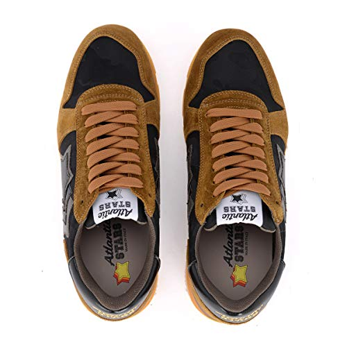 Sirius Nero In Multicolore Sneaker Stars Marrone Suede Tessuto Taglia E Uk Atlantic 8qOExtHwt