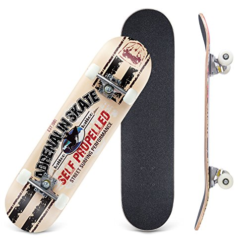 Cctro Skateboards 31  Pro Skateboard Complete  8 Layer Maple Skateboard Deck For Extreme Sports And Outdoors  Tricks Skate Board For Beginners And Pro  Street Surfing