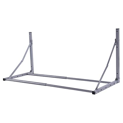 Goplus Tire Rack Wall Mount Folding Adjustable Wheel Storage Heavy Duty Steel 300 lb Capacity Holder  sc 1 st  Amazon.com & Amazon.com: Goplus Tire Rack Wall Mount Folding Adjustable Wheel ...