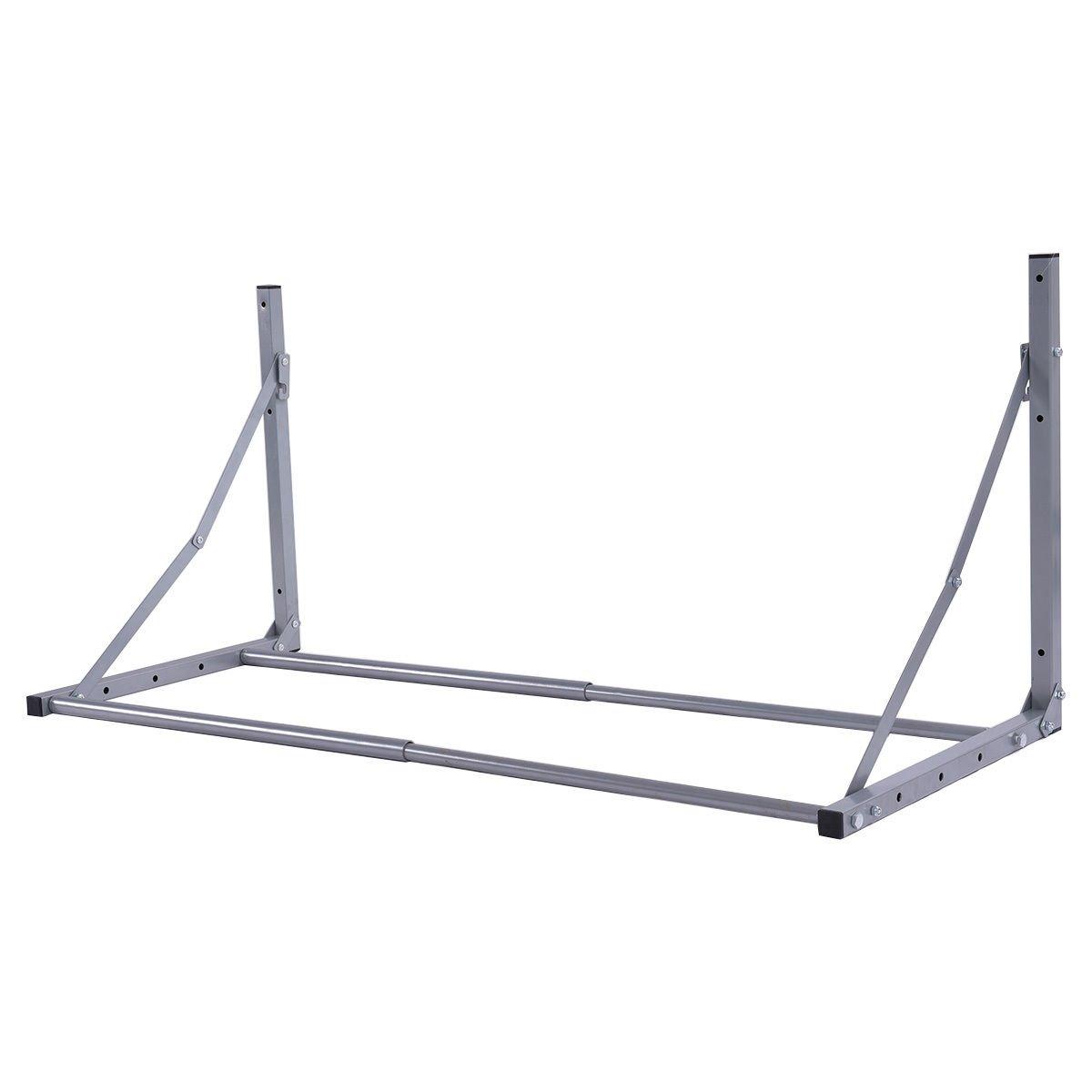 Tire Wheel Rack Storage Folding Holder Heavy Duty Garage Wall Mount Steel 300Lb